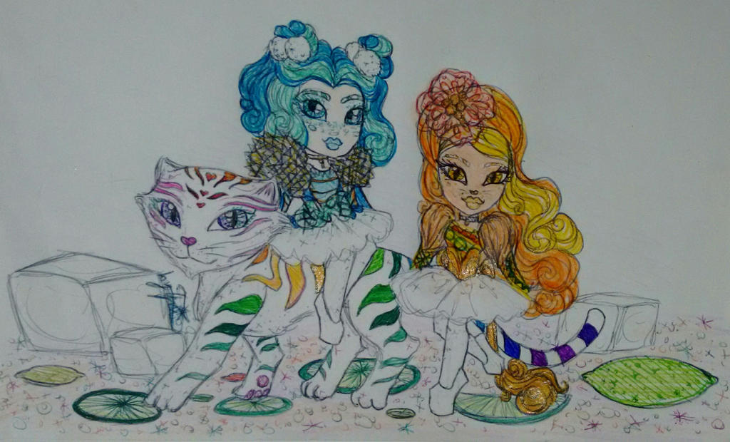 Muffy, Mirana Caterpillar and Leona Liger by GuiZSTAR