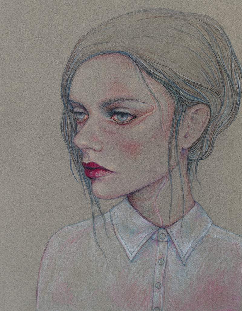 Girl With A Chiffon Blouse by OccupyedHead
