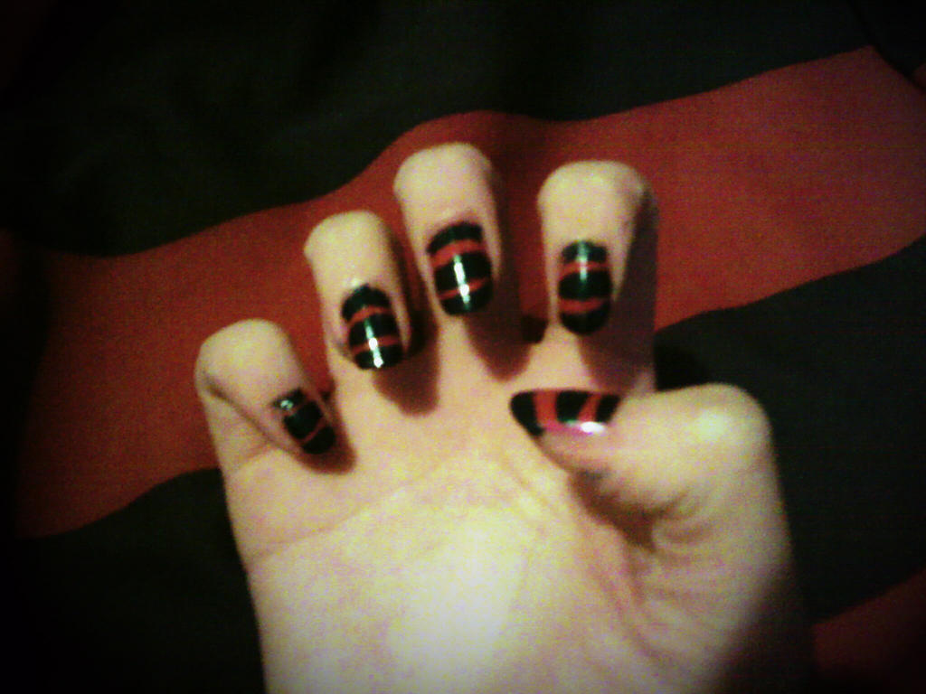 Freddy Krueger Nail Art by ZIMSULTIMATELUVA on DeviantArt