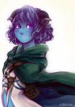 Little Blue Tiefling