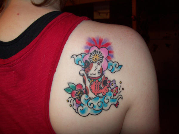 maneki neko tattoo expansion by ~whithersoever on deviantART