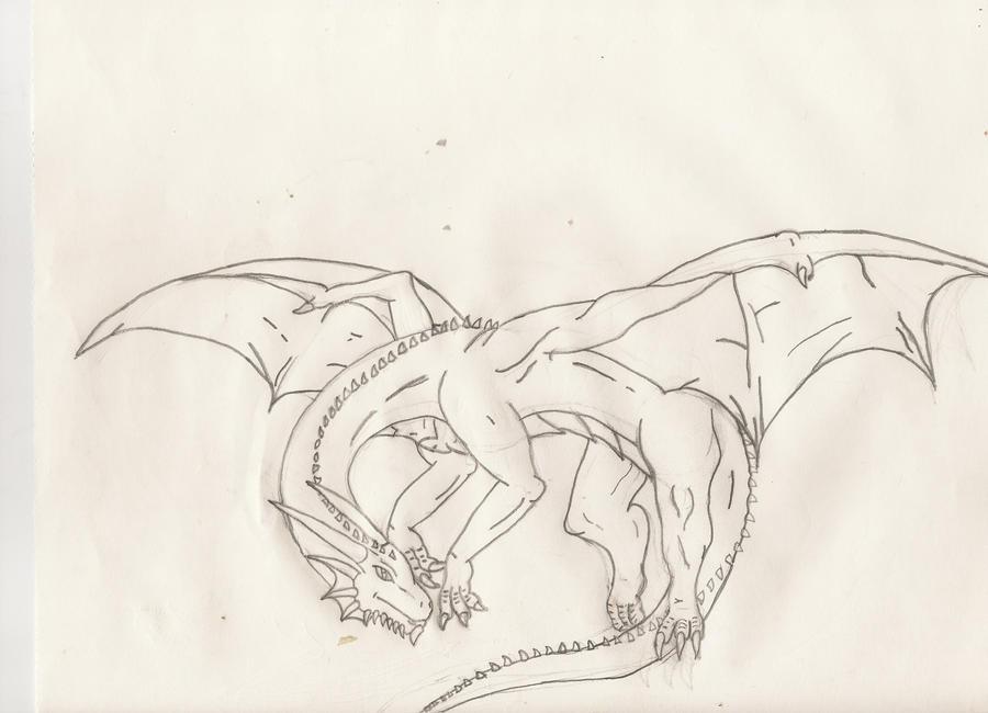 Line Art Dragon : Dragon line art full body by ironatlas on deviantart