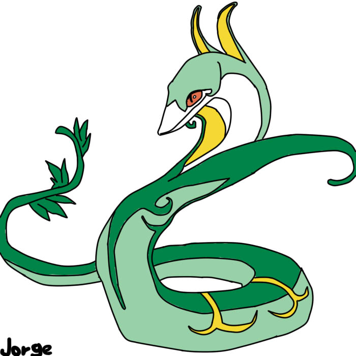 snivy serperior coloring pages - photo#31