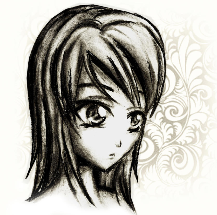 Charcoal Anime Drawing By Lizalot On DeviantArt