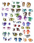 30 pairs of anime eyes
