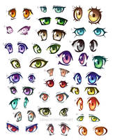 51 anime eyes by Lizalot