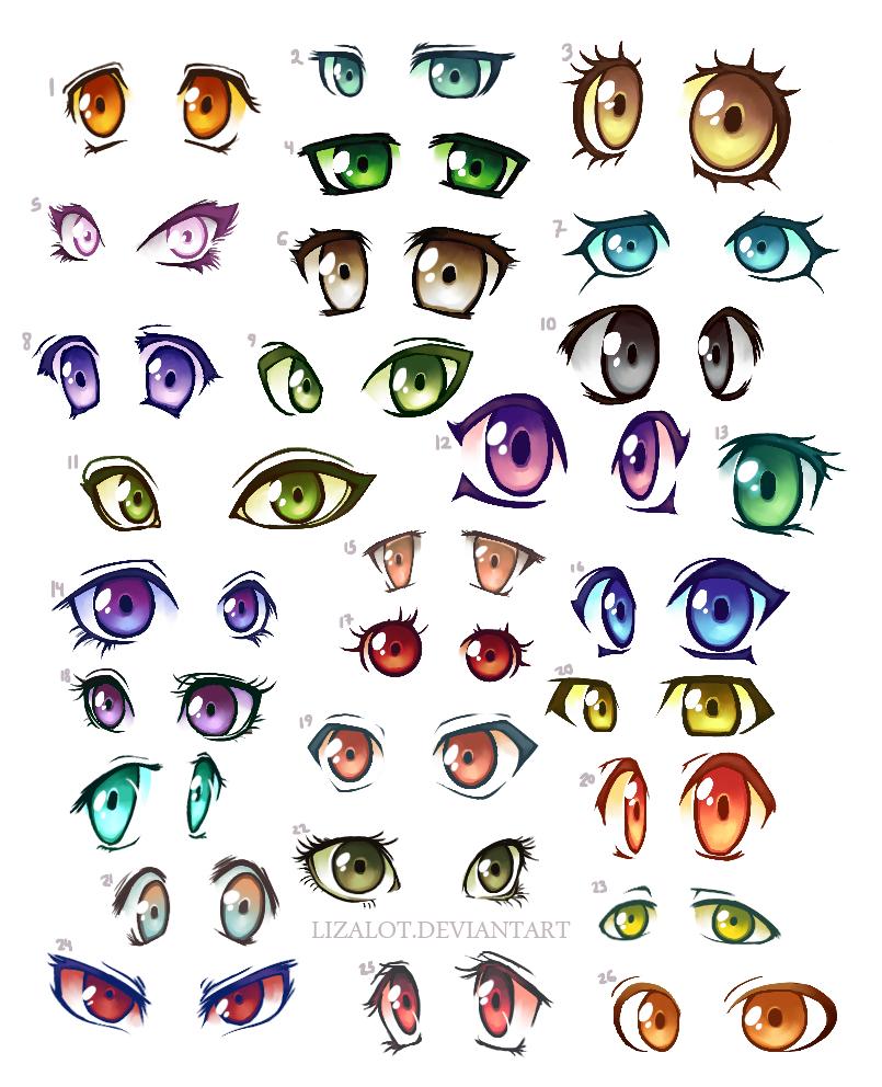 51 Anime Eyes By Lizalot On Deviantart