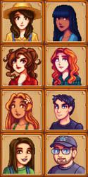 SDV-Style Pixel Portraits by Lizalot
