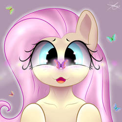 Fluttershy and the butterflies