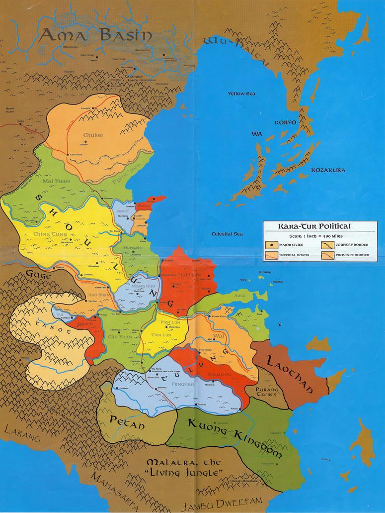 Political map of Kara-Tur by Markustay on DeviantArt