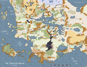 4th edition Forgotten Realms Map