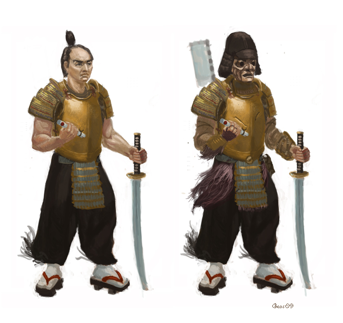 Samurai concept art by geors