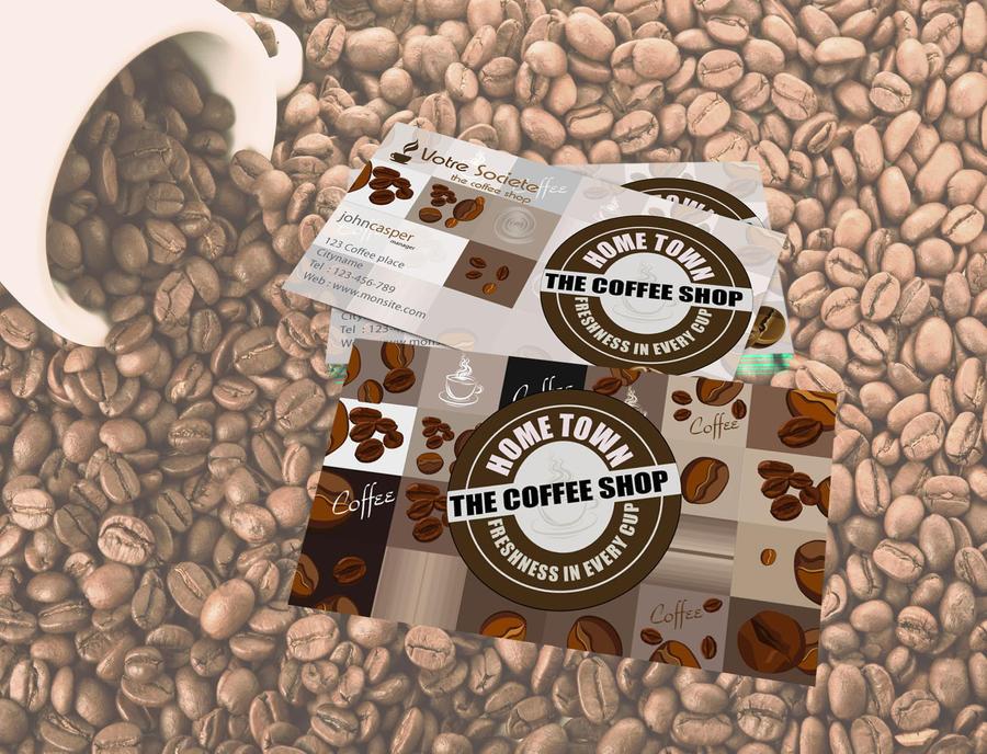 Coffee Shop Business Card Design by graphicdesignonline on DeviantArt