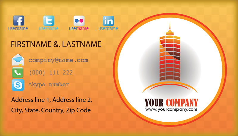 Construction pany Business Card Designs by