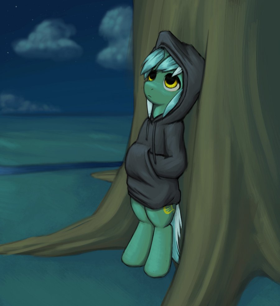 Lyra in a hoodie or something by lurarin