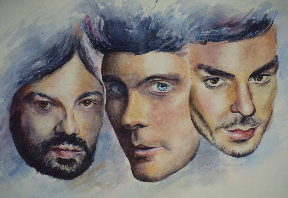 30 seconds to Mars|Watercolor Art by ItsSweetHeart