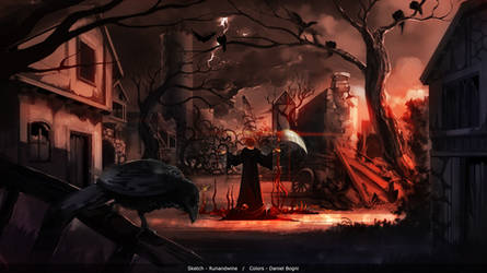 [COLLAB] Haunted Village by runandwine