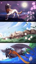Speedpaint Commissions XXXIII by runandwine