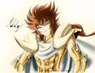 Aries kiki saint seiya omega fan art Gold Saint by MCAshe