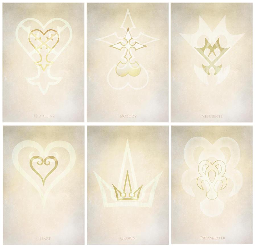 Kingdom Hearts Symbols By Mcashe On Deviantart
