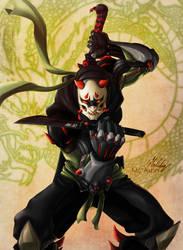 Oni Genji - Overwatch Fanart by MCAshe