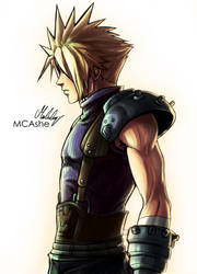 Cloud Strife original Artwork by MCAshe