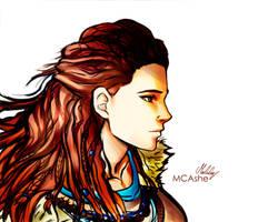 Aloy fanart by MCAshe