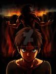 Shingeki no kyojin Fanart - Eren / Titan