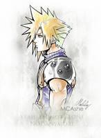 Cloud strife Artwork Final Fantasy VII by MCAshe