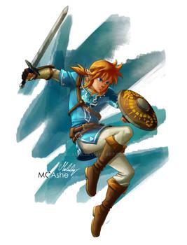 Link -  legend of Zelda Breath of the wild