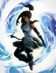 Korra Avatar state artwork + video