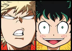 Boku no hero Academia funny faces by MCAshe