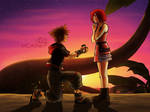 Commission Sora and Kairi by MCAshe