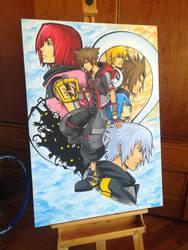 Kingdom hearts III canvas by MCAshe
