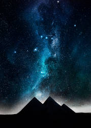 Night pyramids by MCAshe
