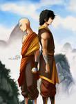 Aang and Zuko fanart