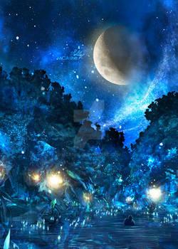 Macalania woods Final fantasy artwork