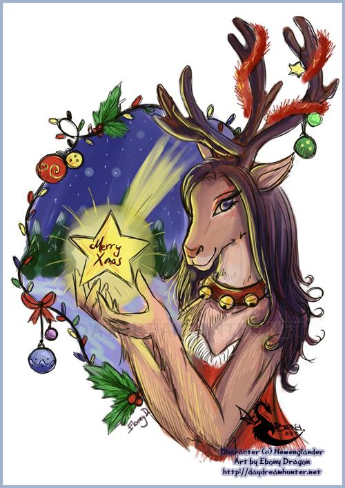 Terrie Christmas by ebonydragon