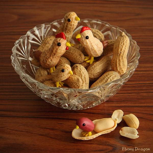 Chirping Peanut Bowl by ebonydragon