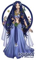 Spring Goddess Aqualea by ebonydragon