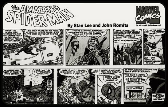 Classic Spider-Man Comic-Strip Wallpaper by jayce76