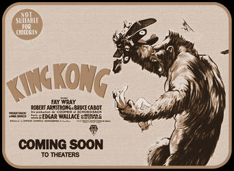1933 King Kong Poster Wallpaper by jayce76