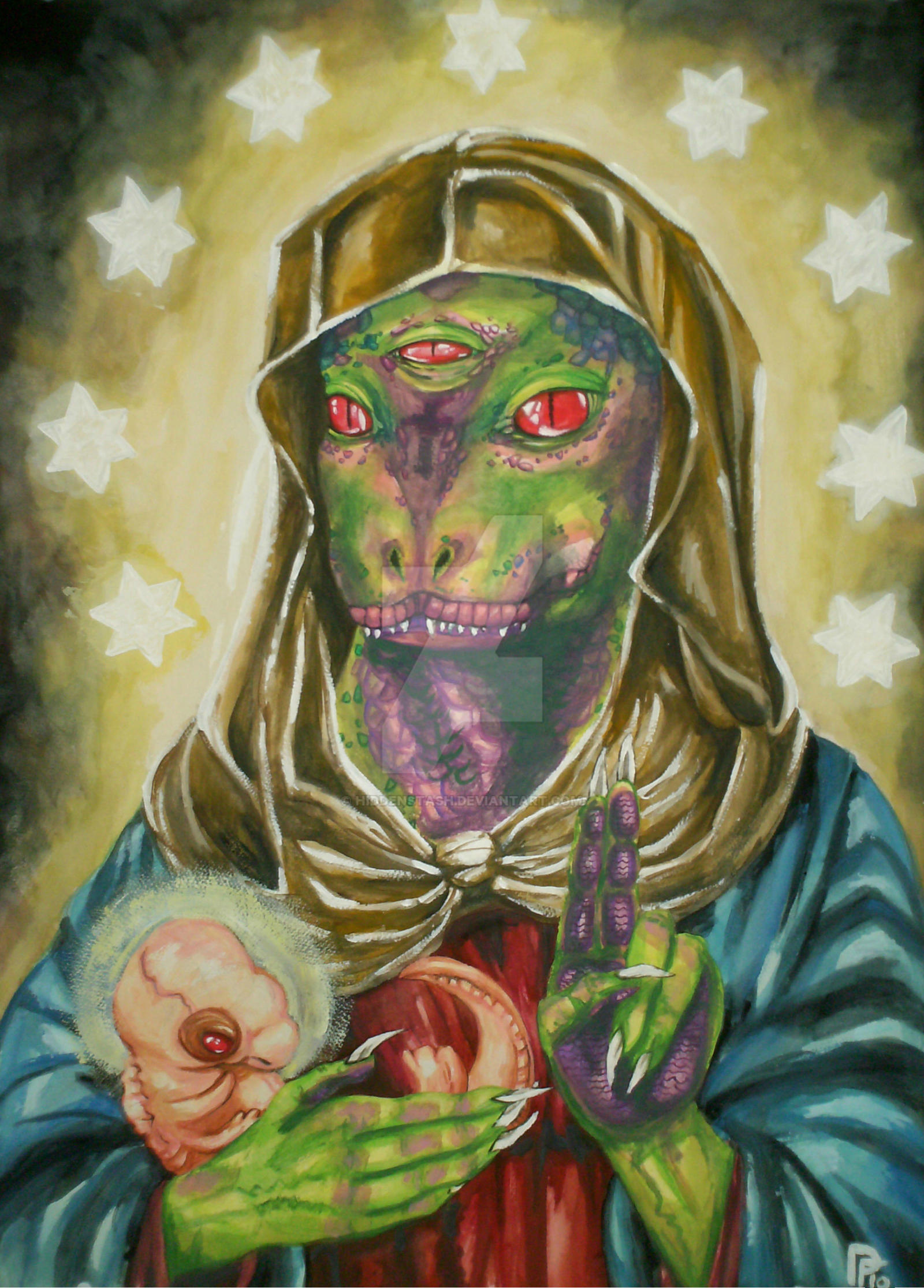 Our Blessed Reptilian Virgin