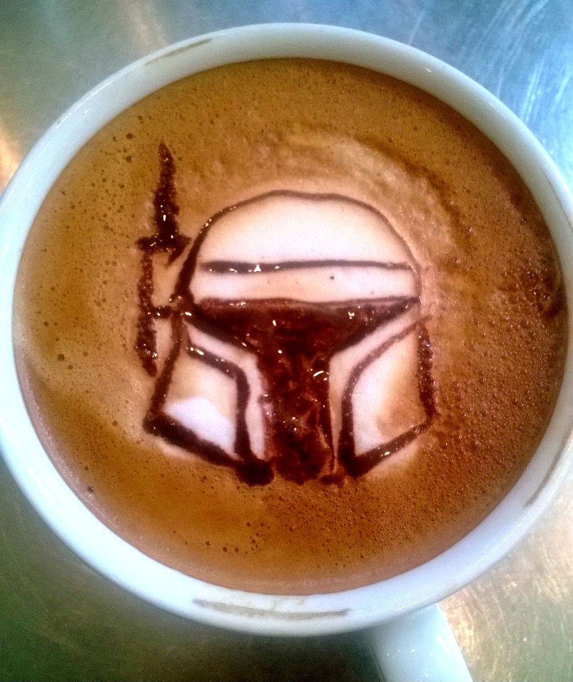 boba fett latte by HiddenStash