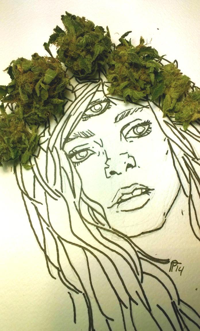 leafy cannabis crown queen by HiddenStash