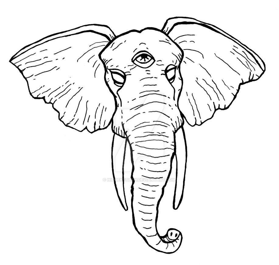 Third Eye Elephant Commission by HiddenStash