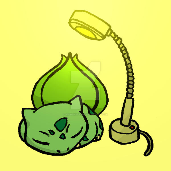 Sunlamp Basking Bulbasaur by HiddenStash