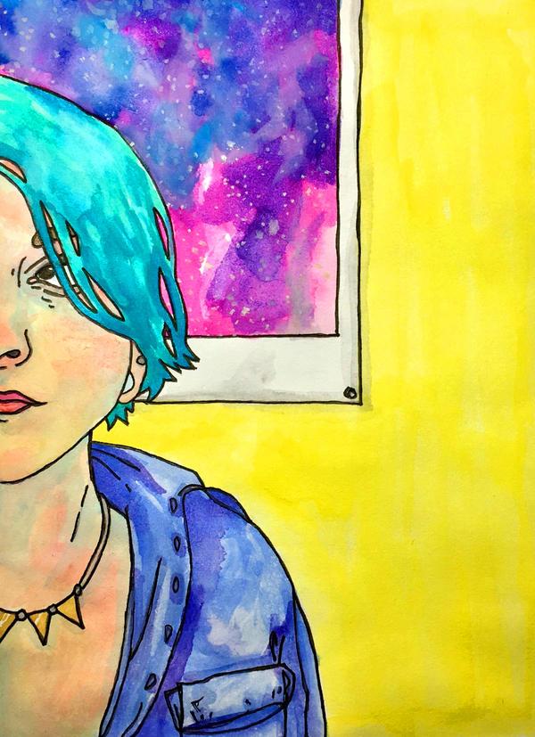 self portrait by HiddenStash