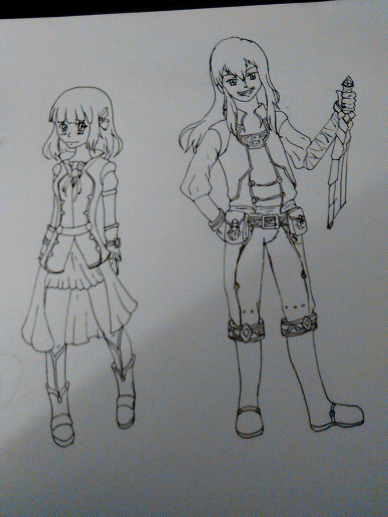 Aura Kingdom Characters by Kierax