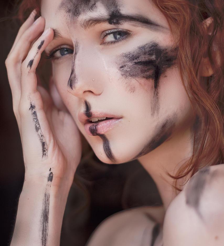 Tears of a worrior by Arielle-Fox